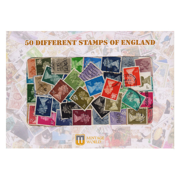 50 Different Stamps of England