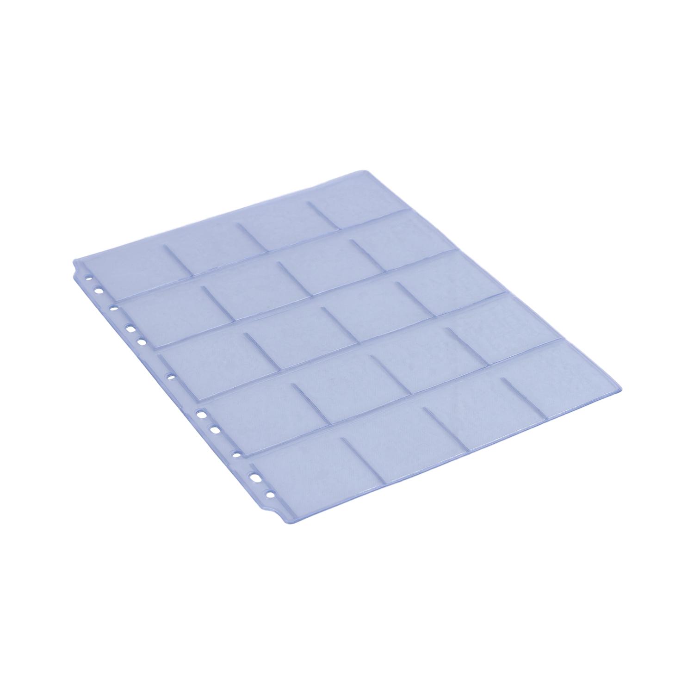 Coin sheets  - Set of 5- Transparent Sheets (China)