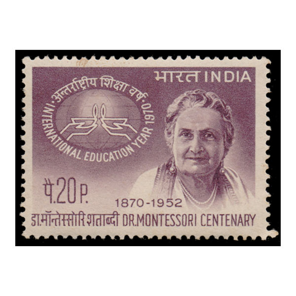 Dr Maria  Montessori International Education Year Birth Centenary Stamp