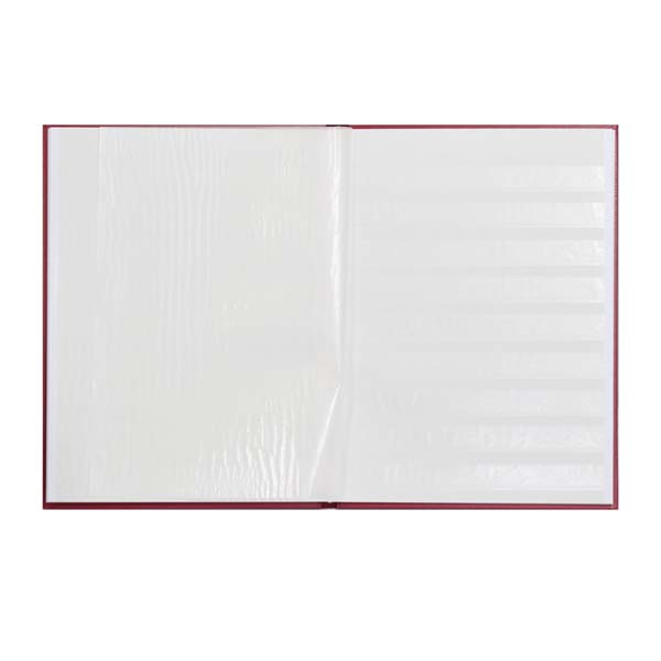 Lighthouse Hardcover Stamp Album Stockbook A4 - 16 White Pages - Red