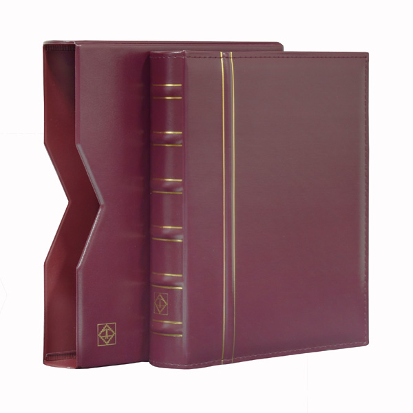 Lighthouse Ringbinder VARIO - in classic design incl. Slipcase - Red