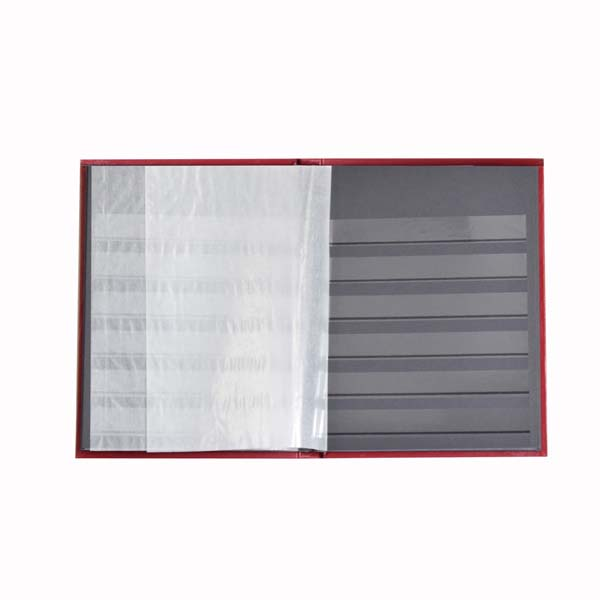 Lighthouse Stockbook A5- 32 black pages- Nonpadded Cover- Red