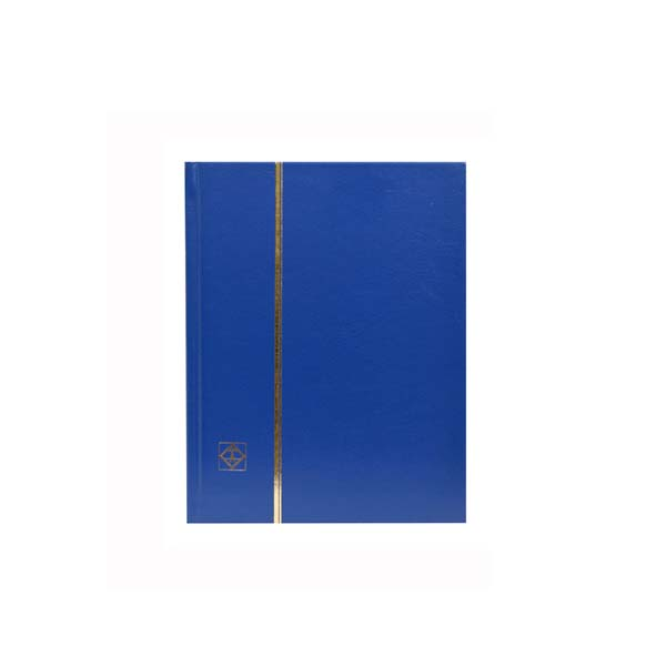 Lighthouse Stockbook A5- 32 black pages- Nonpadded Cover- Blue