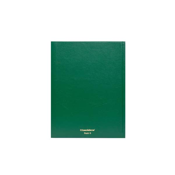 Lighthouse Hardcover Stamp Album Stockbook A5 - 32 Black Pages - Green