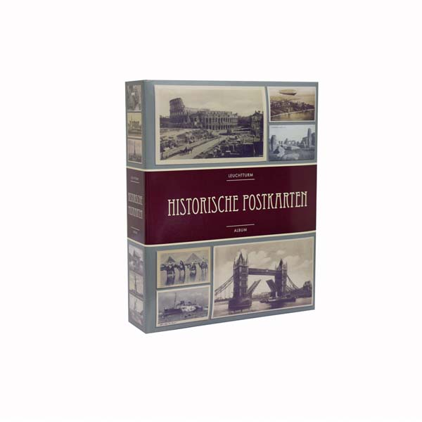 Lighthouse Album for 200 historical postcards with 50 bound clear pocket sheets