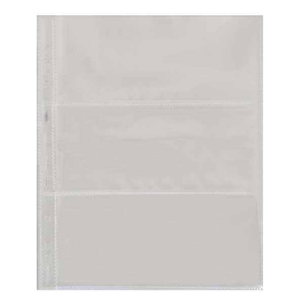 Lighthouse Plastic Sheets- 3 Horizontal Pockets- Pack of 50