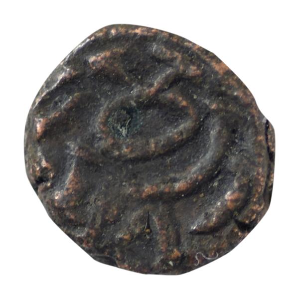 Naga of Padmavati Copper Coin Kakini- Bull type 5