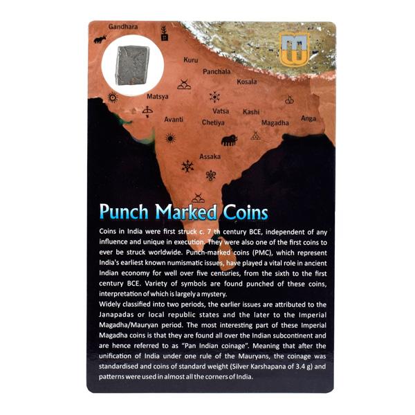 PMC 3 Punch Marked Silver Karshapana Coin of Imperial Magadha Janapada 600 BC-150 BC