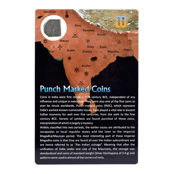PMC 6 Punch Marked Silver Karshapana Coin of Imperial Magadha Janapada 600 BC-150 BC