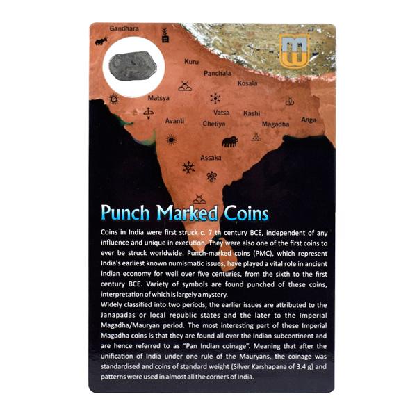 PMC 9 Punch Marked Silver Karshapana Coin of Imperial Magadha Janapada 600 BC-150 BC