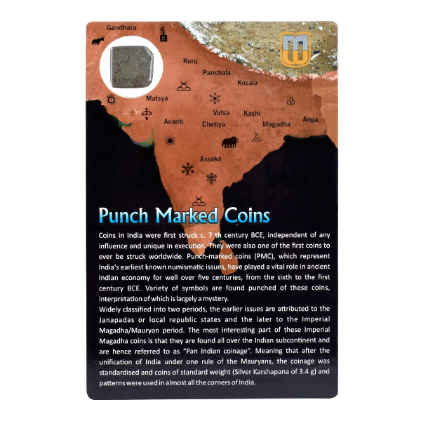 PMC 11 Punch Marked Silver Karshapana Coin of Imperial Magadha Janapada 600 BC-150 BC
