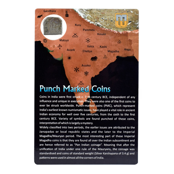 PMC 7 Punch Marked Silver Karshapana Coin of Imperial Magadha Janapada 600 BC-150 BC