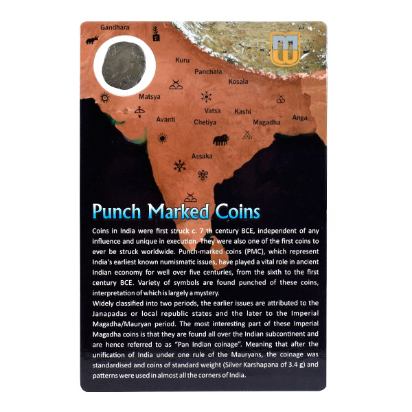 PMC 38 Punch Marked Silver Karshapana Coin of Imperial Magadha Janapada 600 BC-150 BC