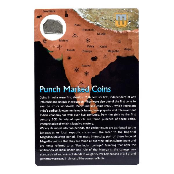PMC 39 Punch Marked Silver Karshapana Coin of Imperial Magadha Janapada 600 BC-150 BC