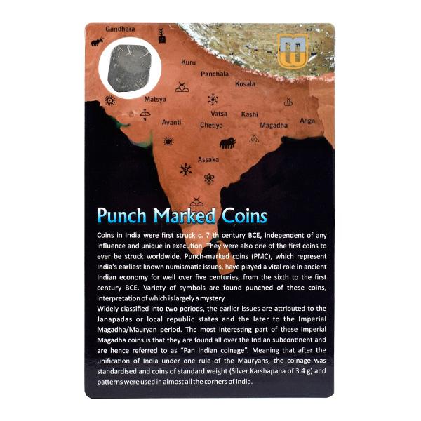 PMC 21 Punch Marked Silver Karshapana Coin of Imperial Magadha Janapada 600 BC-150 BC