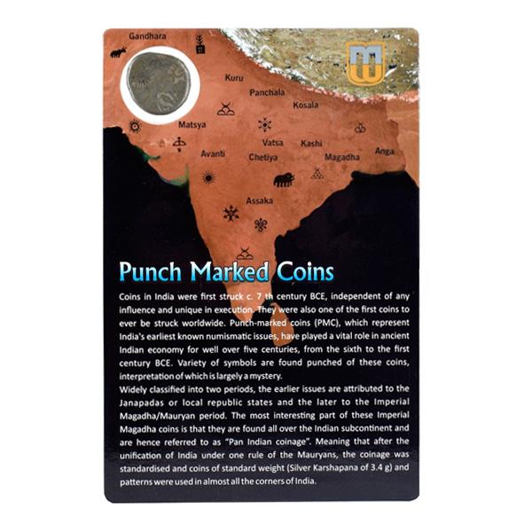 PMC 23 Punch Marked Silver Karshapana Coin of Imperial Magadha Janapada 600 BC-150 BC