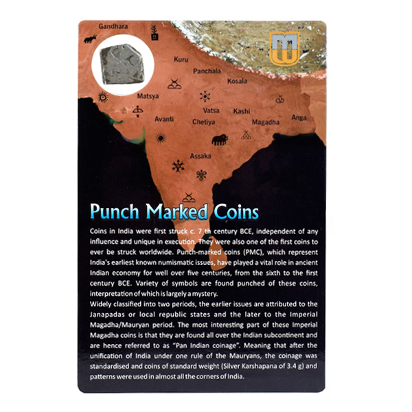 PMC 25 Punch Marked Silver Karshapana Coin of Imperial Magadha Janapada 600 BC-150 BC