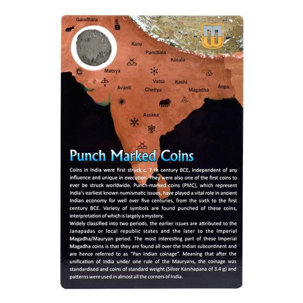 PMC 27 Punch Marked Silver Karshapana Coin of Imperial Magadha Janapada 600 BC-150 BC