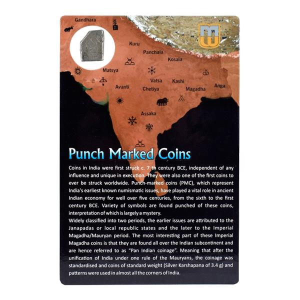 PMC 28 Punch Marked Silver Karshapana Coin of Imperial Magadha Janapada 600 BC-150 BC