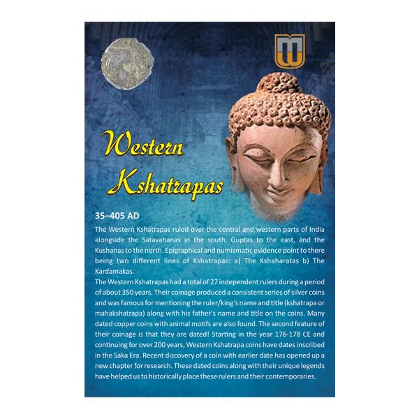 Western Kshatrapas- Drachma of Vijaysena