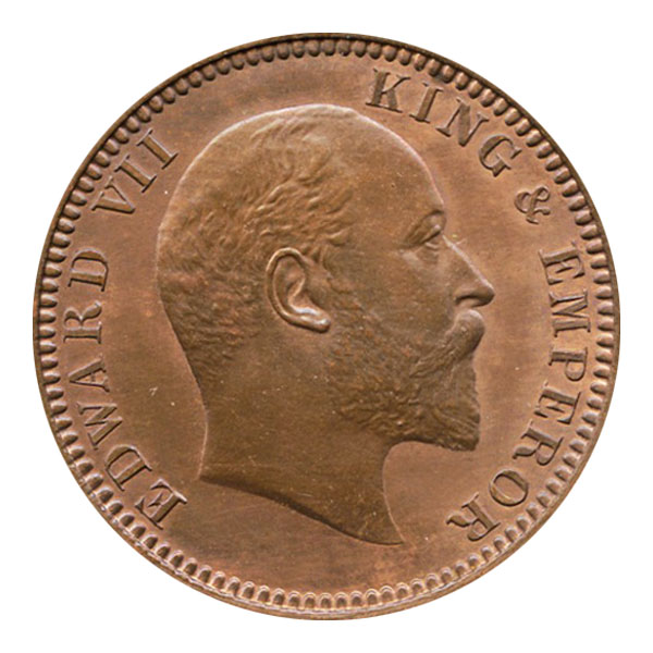 British India King Edward VII Quarter Anna 1905 Calcutta