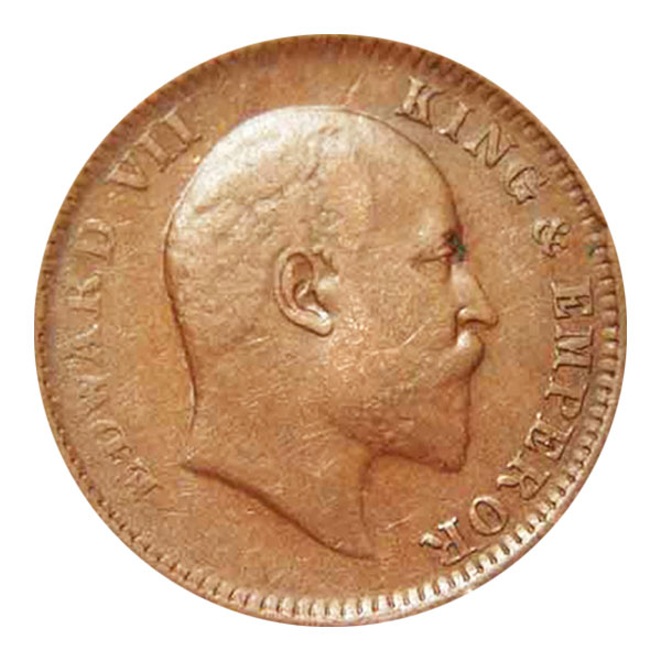 British India King Edward VII Quarter Anna 1906 Calcutta
