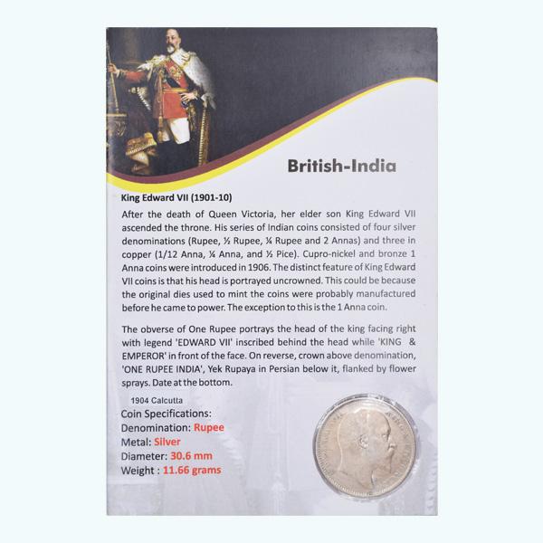 British India King Edward VII One Rupee 1904 Calcutta