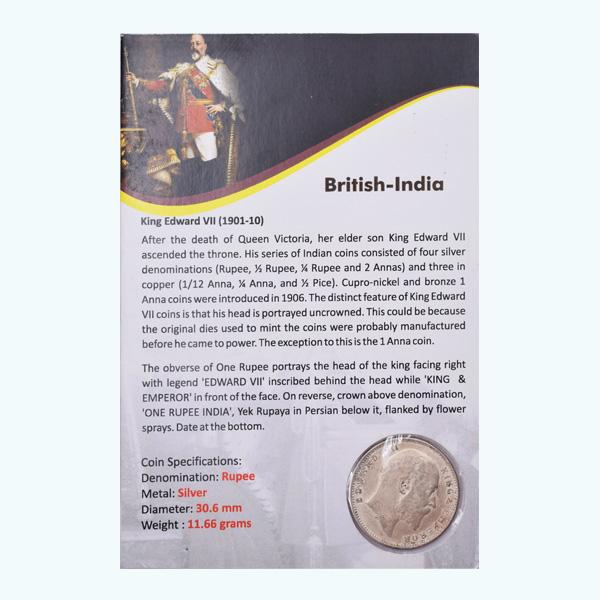 British India King Edward VII One Rupee Coin 1909 Calcutta