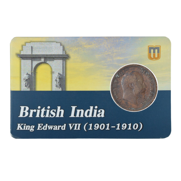 British india King edward VII - 1_2 Pice 1904 calcutta