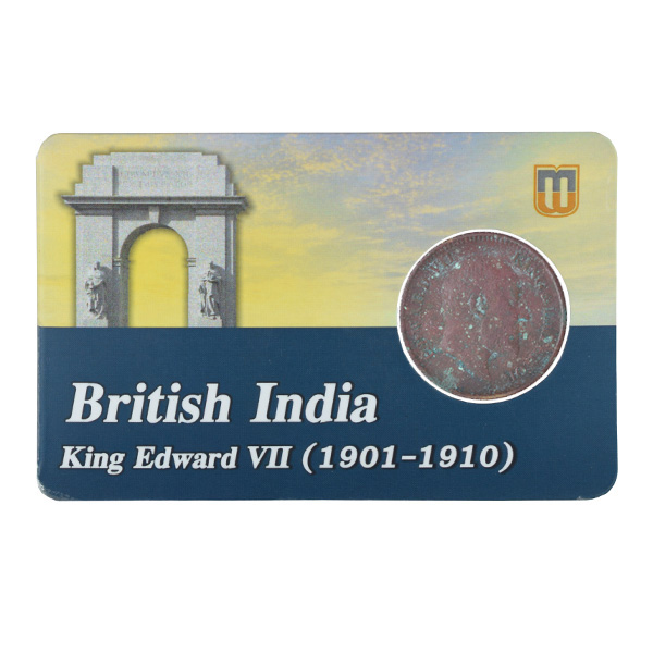 British india King edward VII - 1_2 Pice 1906 calcutta