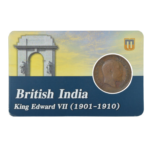 British india King edward VII - 1_2 Pice 1907 calcutta