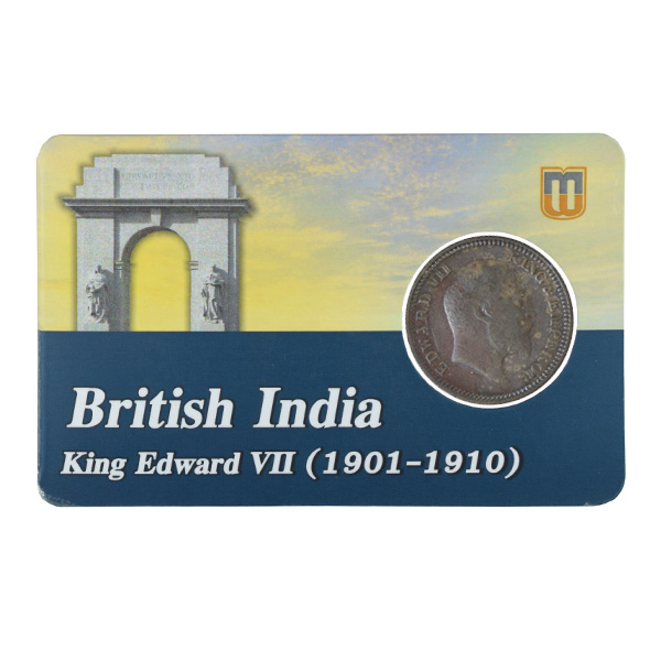 British india King edward VII - 1_2 Pice 1908 calcutta