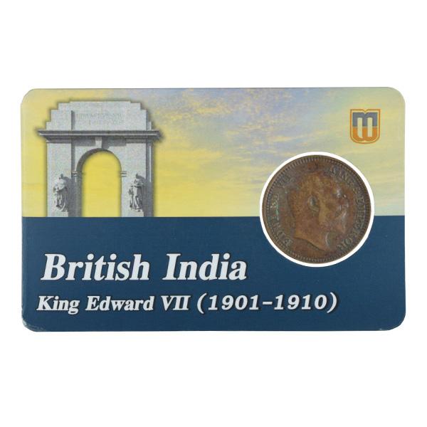 British india King edward VII - 1/2 Pice Coin 1910 calcutta