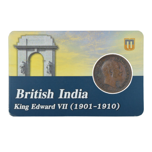 British india King edward VII - 1_2 Pice 1910 calcutta