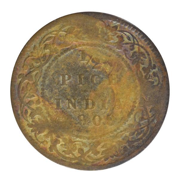 British India King Edward VII - 1_2 Pice 1909 Calcutta