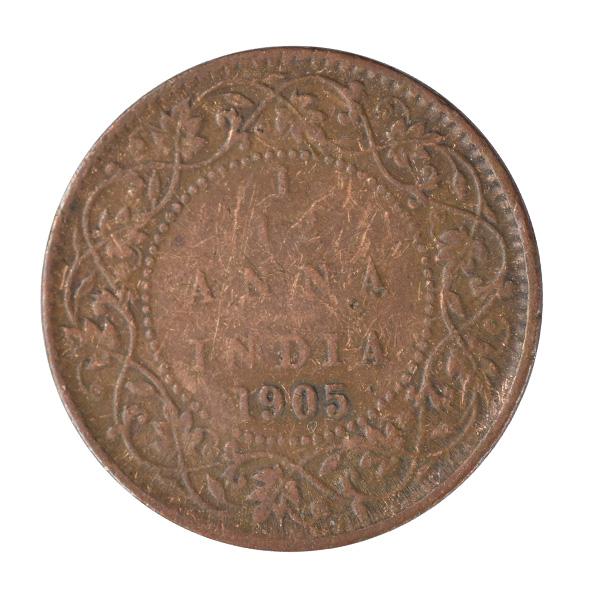 British india King edward VII - 1_12 Anna 1905 calcutta