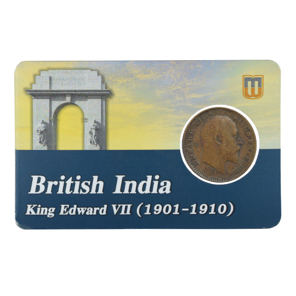 British india King edward VII - 1_12 Anna 1908 calcutta