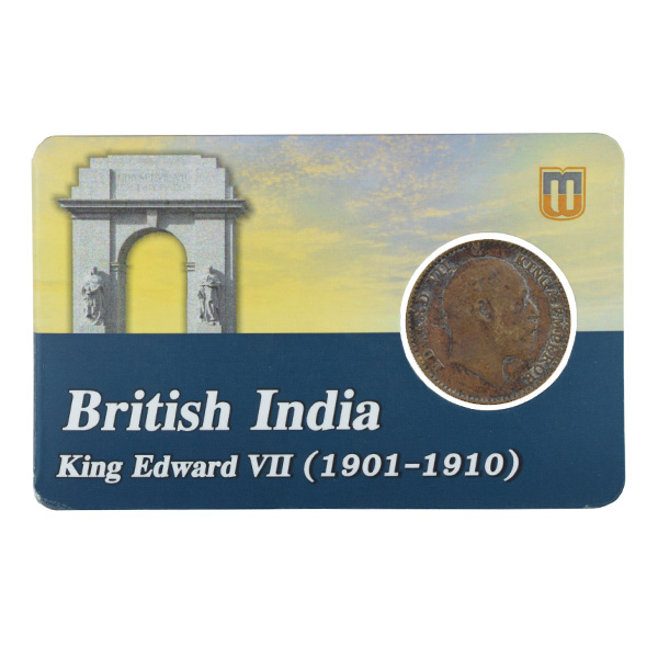 British india King edward VII - 1_12 Anna 1909 calcutta