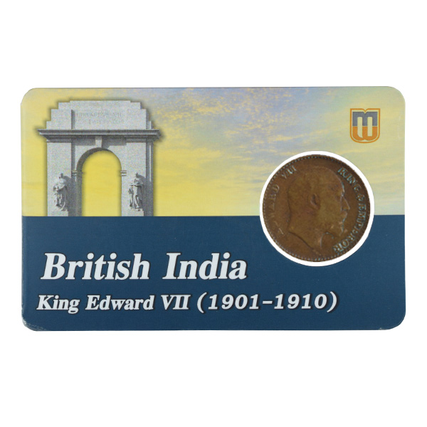 British india King edward VII - 1_12 Anna 1910 calcutta