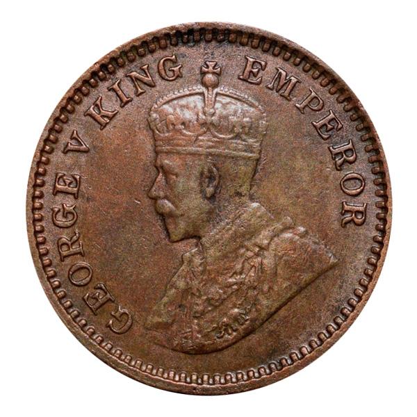 British India King George V 1/12 Anna 1917 Calcutta