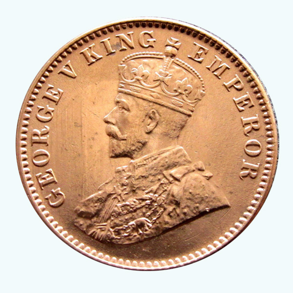 British India King George V Quarter Anna 1917 Calcutta
