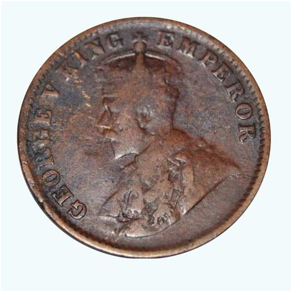British India King George V Quarter Anna 1919 Calcutta