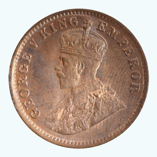 British India King George V Quarter Anna 1920 Calcutta
