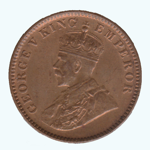 British India King George V Quarter Anna 1934 Calcutta