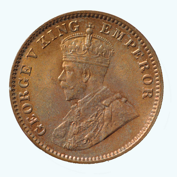 British India King George V Quarter Anna 1936 Calcutta