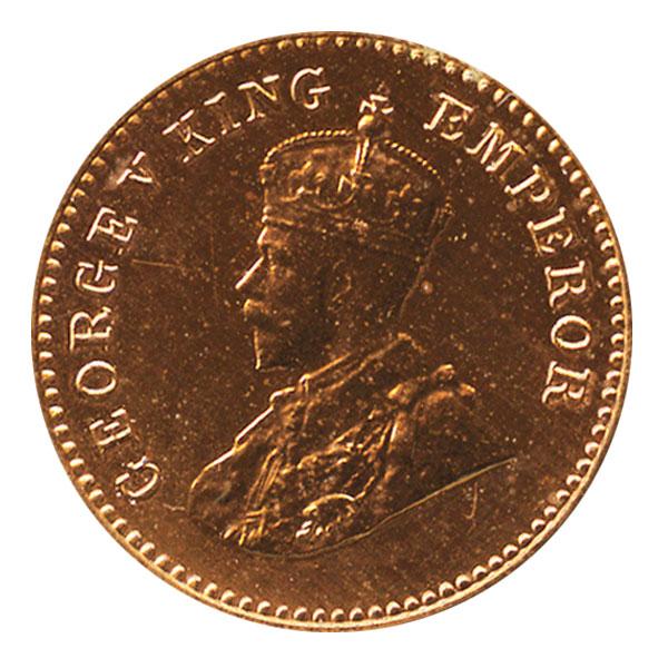 British India King George V 1/12 Anna 1914 Calcutta