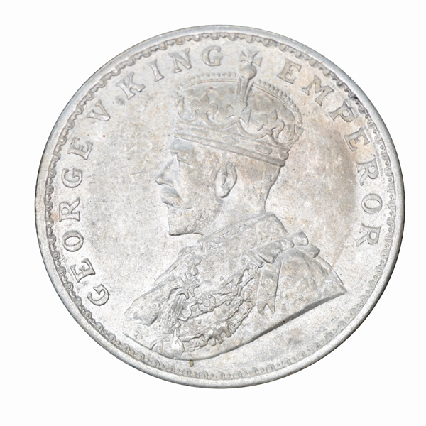 British India King George V One Rupee 1917 Calcutta