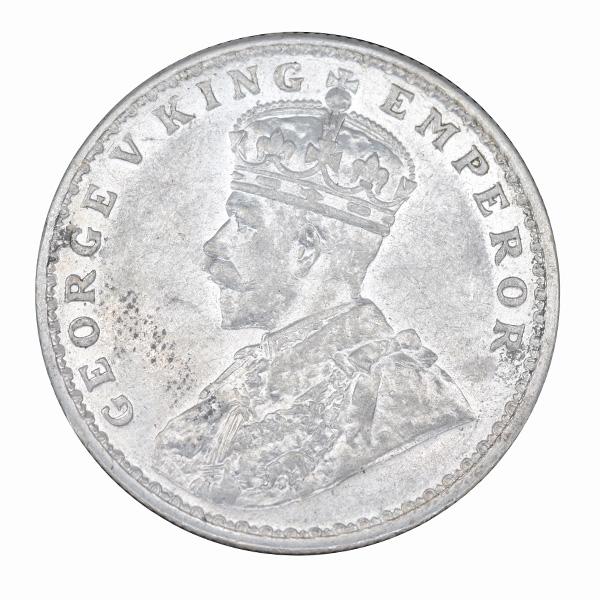 British India King George V One Rupee 1918 Calcutta