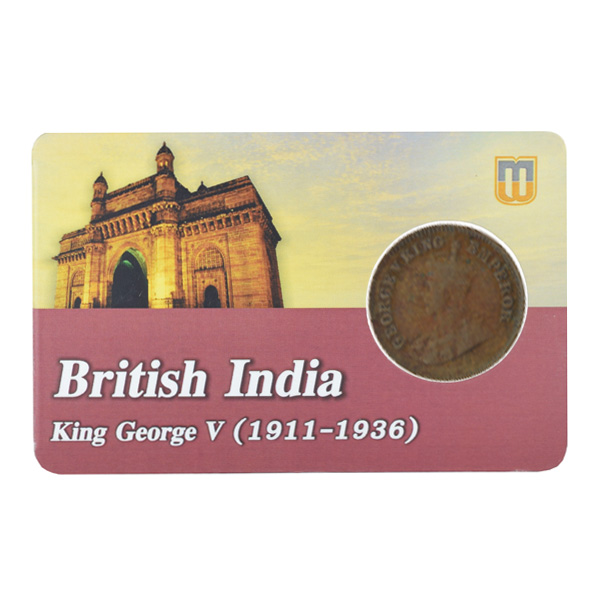 British india King George V - 1_2 Pice 1912 calcutta