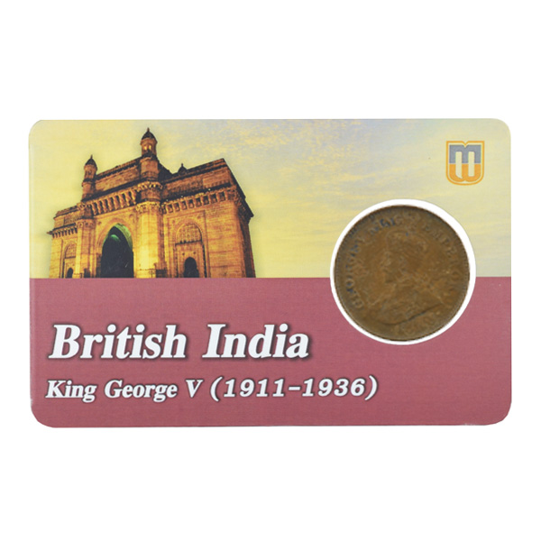 British india King George V - 1_2 Pice 1914 calcutta